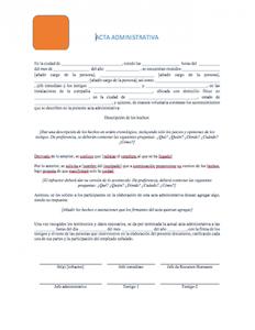 descargar Acta Administrativa gratis